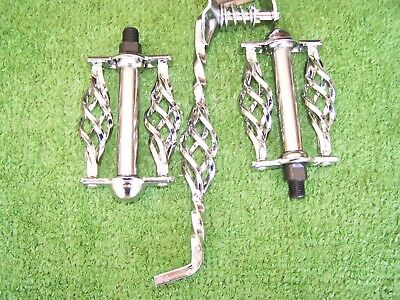 """TWISTED KICK STAND 8/"""" FOR 20/"""" LOWRIDER /& BMX  BIKES  CHROME  NEW"""