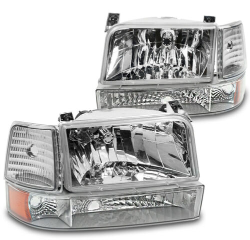 CHROME TIFFIN ALLEGRO BAY 2001 2002 2003 HEADLIGHTS SIGNAL LIGHT LAMPS 6 PC