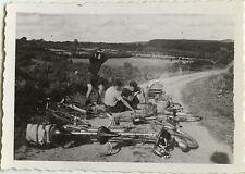 PHOTO ANCIENNE - VINTAGE SNAPSHOT - VÉLO BICYCLETTE VOYAGE TANDEM DRÔLE - BIKE