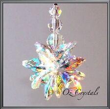 Large Crystal AB Star Cluster Ornament Suncatcher made w Swarovski