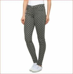 new J BRAND women jeans super skinny mid rise 6200241BLP black white sz 25