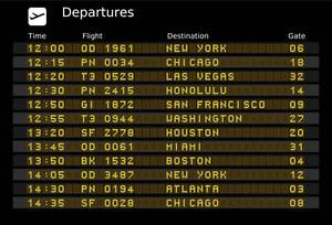 Image result for airport information board