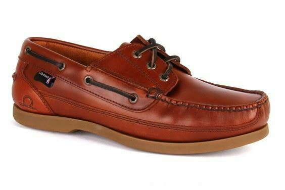 Chatham Rockwell Chestnut Wide Fit Pont Chaussures En Taille Uk7 To Uk15