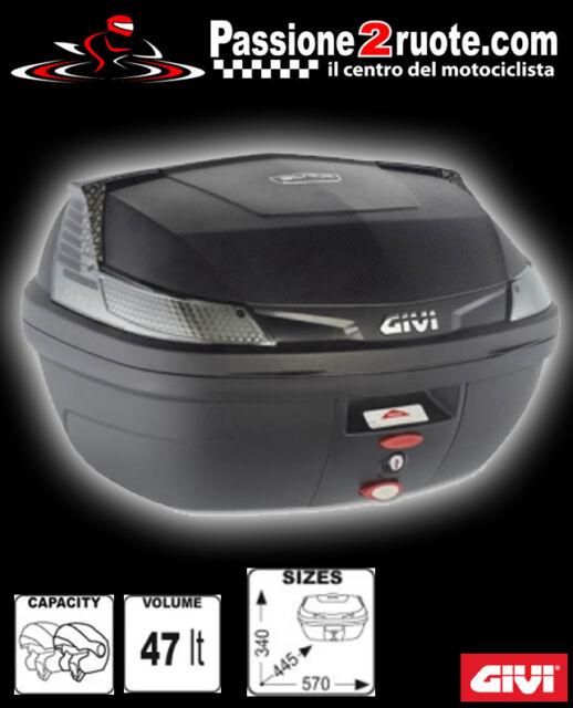 givi top-box blade b47 b47ntml monolock 47LT tech schwarz komplett platte