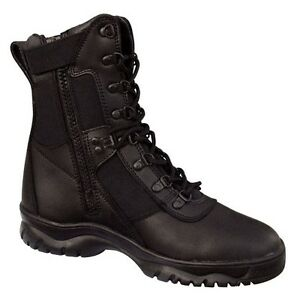 rothco 8 quot forced entry side zipper tactical boots
