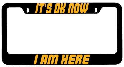 It/'s Ok Now I Am Here Black METAL License Plate Frame My Hero Academia