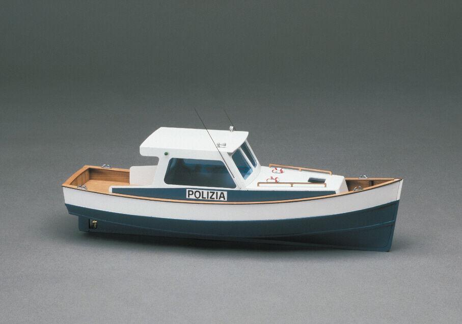 Mantua Police Boat Motor Launch 1 35 Scale Wood Ship Kit