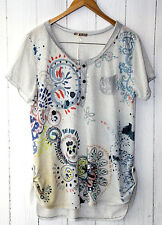 ITALY Fein Strick Shirt mit  Pilletten 38 40 42  Beige Neu