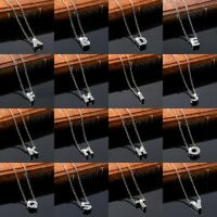 New Alloy Rhinestone Crystal Initial Alphabet Letter A-Z Pendant Chain Necklace
