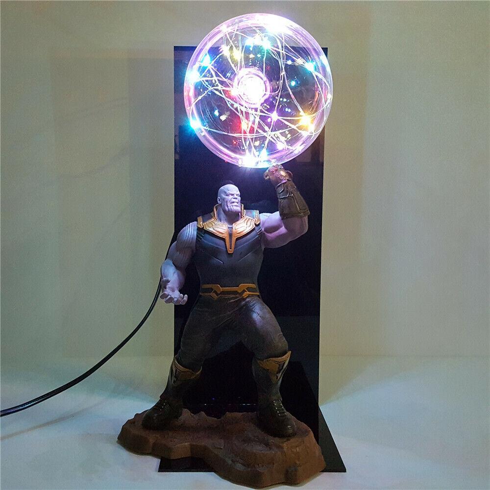 Avengers Endgame Thanos Infinity Gauntlet Led Lamp Night Light Flash Display Toy