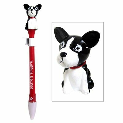 Boston Terrier Dog Pen Replaceable Ballpoint Black Ink