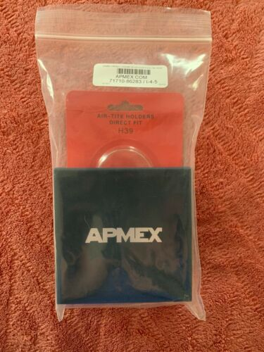 APMEX gift Box And 39 mm Direct Fit Air-Tite Holder H39