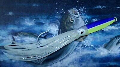 1oz squid diamond fishing surf lure jig VMC hook glow skirt 2815