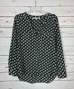 COLLECTIVE-CONCEPTS-Stitch-Fix-Women-039-s-M-Medium-Black-Long-Sleeve-Top-Blouse
