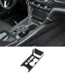 Fit For Honda Accord 2018 2019 ABS Carbon Fiber Gear Shift Box Panel Cover Trim