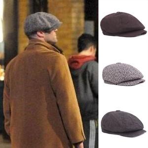 5Colors-Vintage-Mens-Tweed-Newsboy-Cap-Peaky-Blinders-Baker-Boy-Flat-Check-Hats