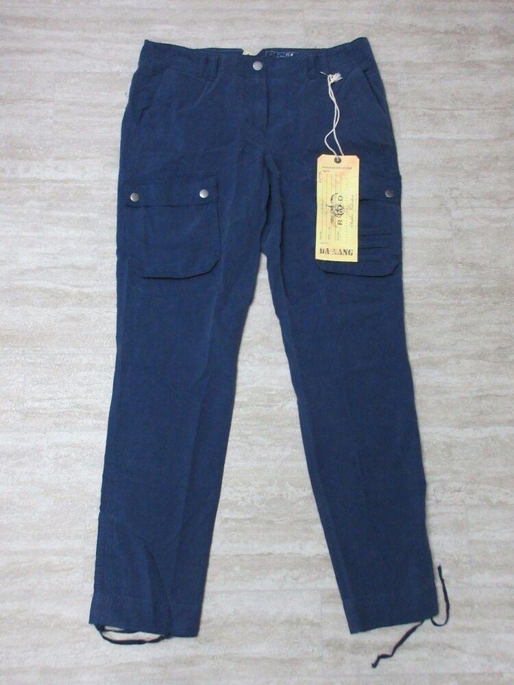 Neuf Da-nang Femmes Pantalon Décontracté Cheville Réglable Deebl Rss5251 Size: S