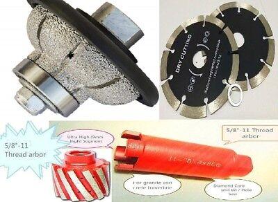 """1//2/"""" Full Bullnose Router Bit sink cut grinding drum core bit granite countertop"""