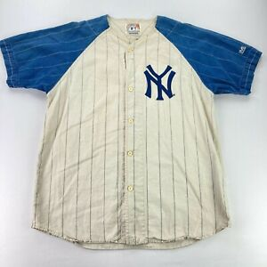 VTG Mickey Mantle 7 New York Yankees Cooperstown Collection Jersey Beige • XL