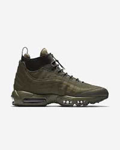 Mens Nike Air Max 95 Sneakerboot Khaki Khaki 806809 202 Size  Last Pair