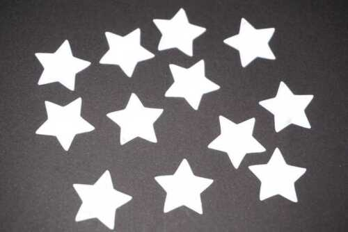 reflektierend Reflektor silber Sterne Bügelbild 15 St