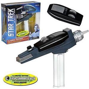 Star-Trek-TOS-PHASER-White-Handle-Light-Sound-original-Replica