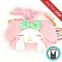 Japan Sanrio Pink My Melody Rabbit Crossbody Purse Bag Wallet Smart Phone Holder