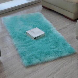 Faux Sheepskin Fur Rug Soft Fluffy Mats