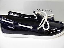 a6fe41a3530 Cole Haan Nantucket Camp Moccasin Boat Shoe Patent Leather Slip On Loafer  NIB