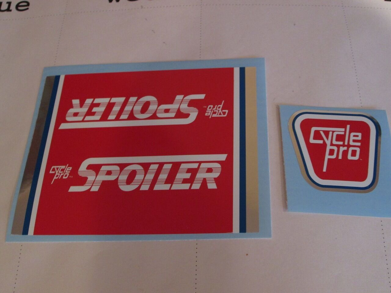 CYCLE PRO FOILER or SPOILER DECAL SETS - Choice either pair