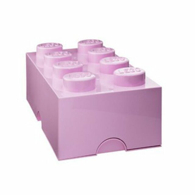 Lego Almacenaje Ladrillo - Rosa Claro - Dormitorio Infantil/Cuarto de Juegos -