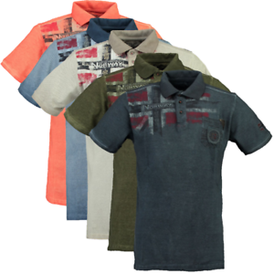 Polo-maglia-T-shirt-Maniche-Corte-Short-Sleeves-Kamo-GEOGRAPHICAL-NORWAY-Uomo-Me