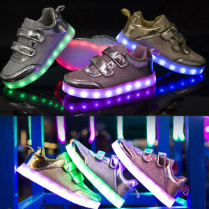 Mens Light up Sneakers USB Charging Led Flashing Trainers Outdoor Breathable Sport Casual Street Shoes