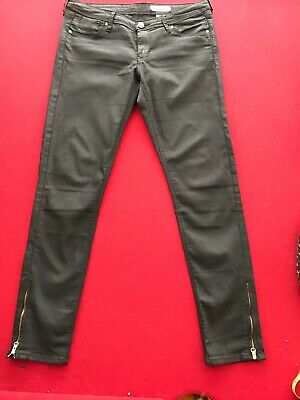 H&M Denim Woman Pants Black Light Jean Skinny Low Waist Ankle Zipper sz 29 | eBay