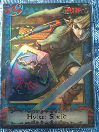 Hylian Shield 98 Silver Holofoil The Legend of Zelda Trading Card NM RARE