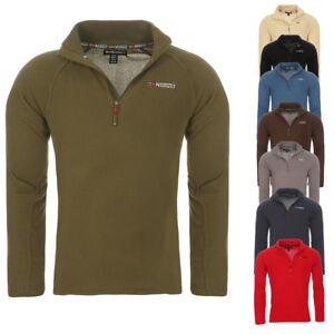 Geographical-Norway-Homme-Micro-Fleece-Pull-Sweatshirt-fleecepullover-NEUF