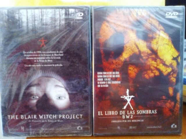 The Blair Witch Project-El Proyecto de la Bruja de Blair. dvd Parte 1 y 2 - dvd