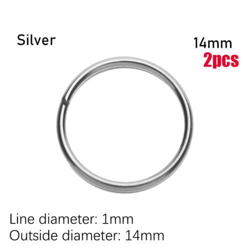 Circle Clip Titanium Alloy Portable Holder EDC Keychain Keyring Buckle Key Ring