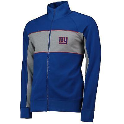 Nfl New York Giants Cut And Sew Track Giacca Cappotto Top Royal Da Uomo-mostra Il Titolo Originale Eccellente (In) Qualità