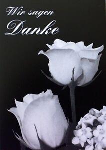 Trauer-Danksagungen-Trauerkarten-Motiv-Rosen-Danke-Karten-Danksagung