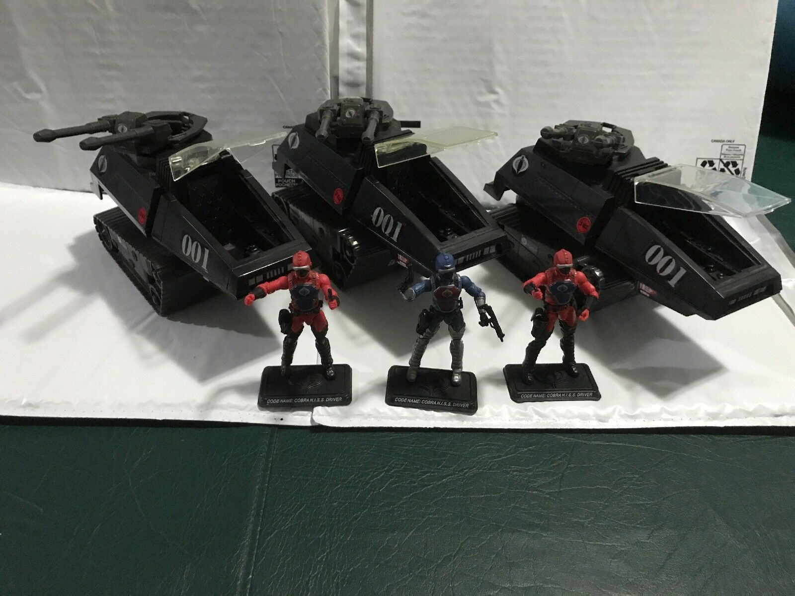 """GIJOE HISS (001) Tank Lot Complete W Drivers """"Great Condition"""""""
