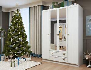 4 Door Wardrobe GEORGIA Bedroom Collection