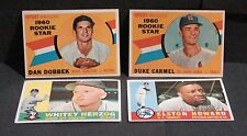 1960 TOPPS BASEBALL CARD LOT OF 127 (127 DIF)  18 ROOKIES see pics for condition