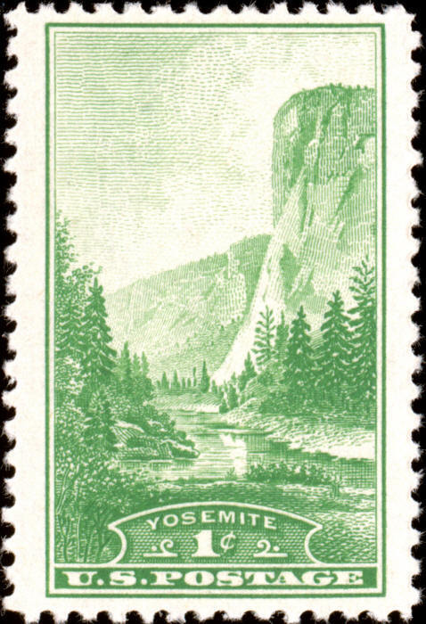 1934 1c Yosemite National Park, California Scott 740 Mi