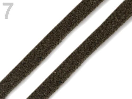 10m Kordel flach Flachbandkordel Breitbandkordel Jackenband viele Farben