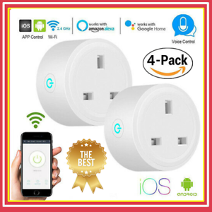 Wi-Fi-Smart-UK-Socket-Plug-Compatible-For-Google-Amazon-Alexa-APP-Voice-Control