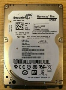 "Seagate Momentus Thin 320 GB Internal 5400 RPM 2.5/"" laptop Hard Drive ST320LT012"