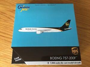 UPS Boeing 757-200F N409UP Gemini Jets GJUPS1643 Scale 1:400