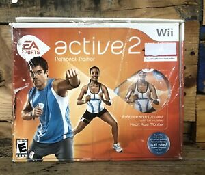 NINTENDO-WII-EA-Sports-Active-2-Personal-Trainer-Game-amp-Accessories-Bad-Box