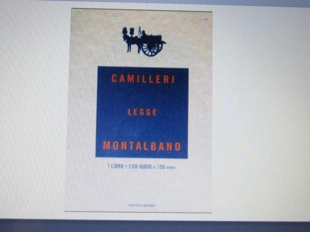 CAMILLERI LEGGE MONTALBANO - Cofanetto Sigillato LIBRO CON 2 CD AUDIO - RARO